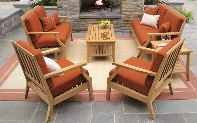 Salotto per giardino in legno di teak