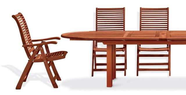 Tavolo e sedie in legno di keruing by Regarden