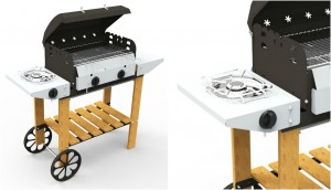 Barbecue a gas VULCANO LEGNO