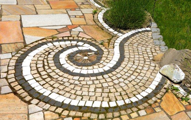 decorazione pavimento da giardino