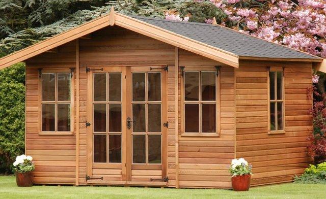 casette in legno da giardino ampia