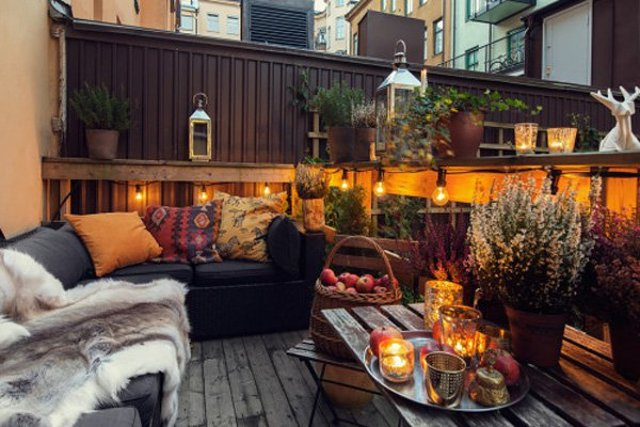 trasformare giardini e terrazze per l'autunno tonalità