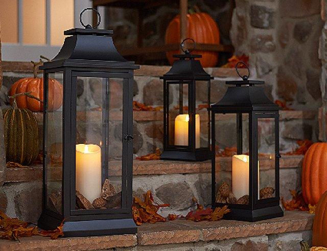 trasformare giardini e terrazze per l'autunno lanterne