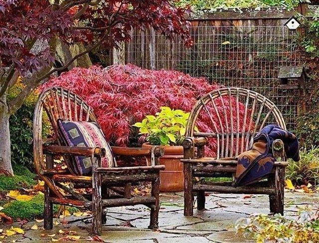 trasformare giardini e terrazze per l'autunno coperte