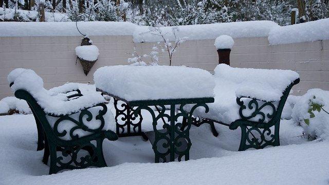 riporre i mobili da esterno inverno