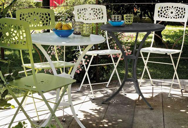 foto: mobili in ferro battuto colori