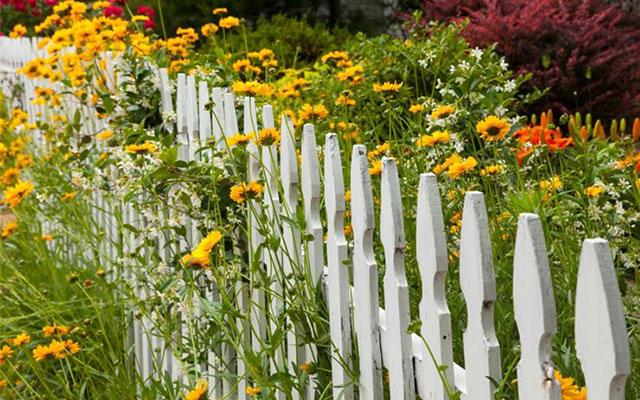 foto: recinzioni da giardino con steccato in legno