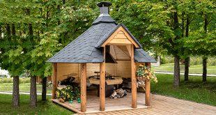 barbecue a legna e casette da giardino