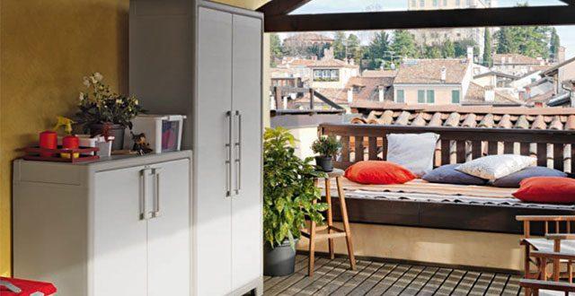 Angolo Lavanderia Terrazzo : Idee per ricavare un ripostiglio in terrazzo foto