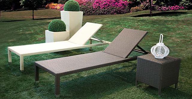 Chaise longue e sdrai da esterno arreda il giardino - Chaise longue da esterno ...