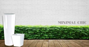usare i vasi da giardino stile minimal chic