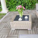 Quadrotte in legno grigio-marrone