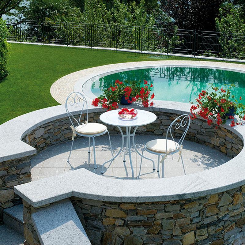 Arredogiradino tavolo sedie bianco arreda il giardino for Sedie per il giardino