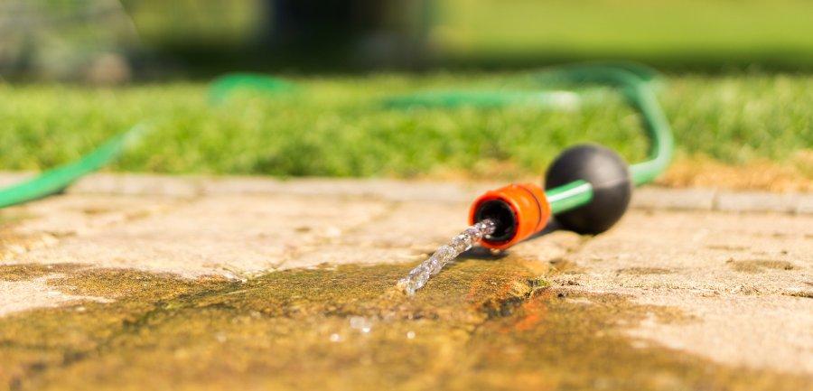 acqua per la cura del giardino