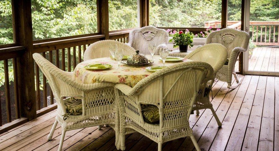 salotto in veranda