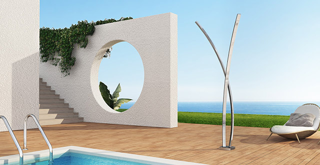 Doccia da giardino Preludio by Inoxstyle