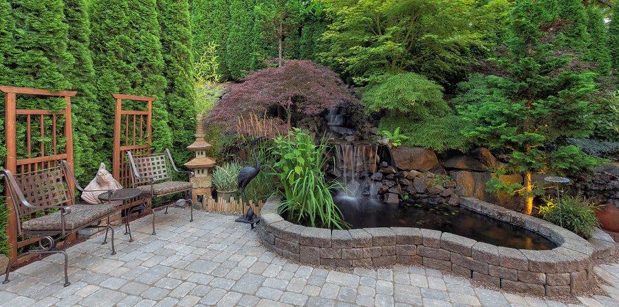 punto focale per arredo giardino