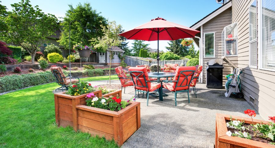 dividi il giardino in zone per uno spazio funzionale