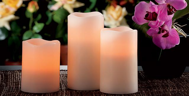 candele elettriche led come luci da giardino