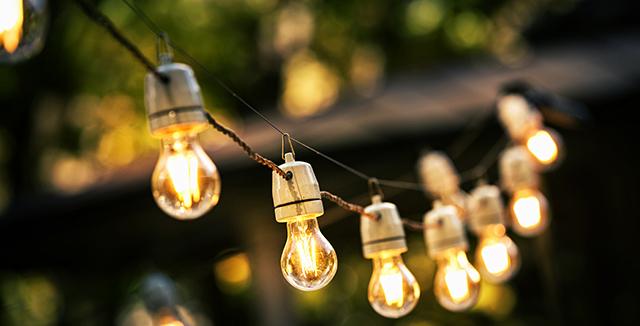 filo di luci da giardino