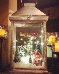 decorare le lanterne per natale