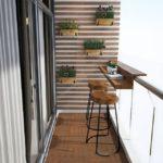 area bar arredare balcone lungo e stretto