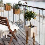arredare un balcone stretto e lungo stile minimal