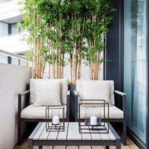 bambù arredare un balcone stretto e lungo